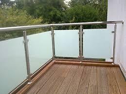 glas balkon balkongeländer edelstahl vsg glas balkon geländer ebay