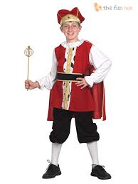 boys medieval tudor king fancy dress costume book week historical