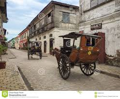 philippine kalesa a kalesa or horse carriage in historic town of vigan editorial