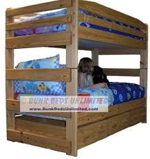Twin Loft Bed Plans by 19 Best Bunk Beds Images On Pinterest 3 4 Beds Bunk Bed Plans