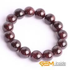 garnet gemstone bracelet images Natural garnet stone beads bracelet 6mm to 12mm natural stone jpg