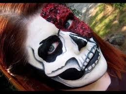 Bloody Mary Halloween Costume Bloody Skull Makeup Tutorial