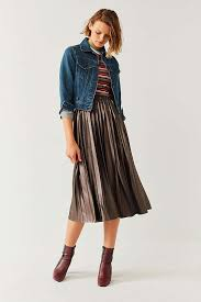 midi skirt uo metallic pleated midi skirt outfitters