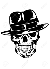 gangster drawings of skulls with guns how to draw skull gangster
