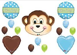 monkey boy baby shower decorations 1 x it s a boy monkey baby shower balloons decorations