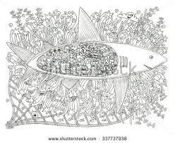 shark coloring stock illustration 337737938 shutterstock