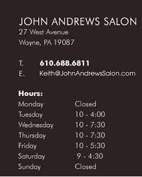 john andrews salon home