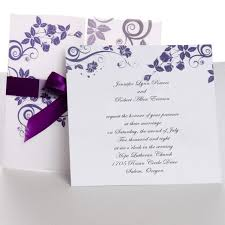 wedding invites classic purple gate fold ribbon wedding invitations ewri004 as low
