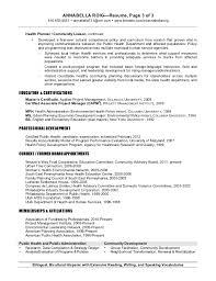Sample Public Health Resume by Urban Planning Resume Sample Contegri Com