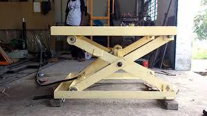 scissor lift table youtube