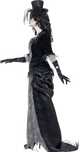 Ghost Halloween Costume Amazon Smiffys Women U0027s Ghost Town Widow Costume Clothing