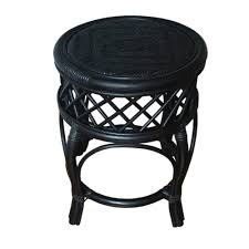 round stool mary color black handmade eco friendly materials