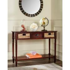 Apothecary Console Table Southern Enterprises Portland Espresso Storage Console Table