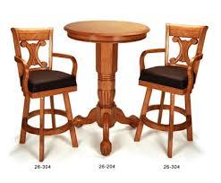Oak Bar Table Pedestal Pub Table