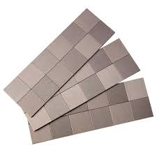 aspect square matted 4 in x 12 in metal decorative tile