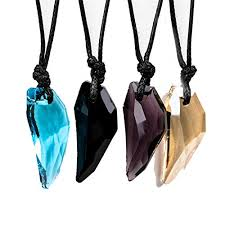 vintage crystal pendant necklace images Men antique crystal stark wolf fang tooth pendant jpg