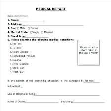 sample medical report template 14 free documents in pdf word