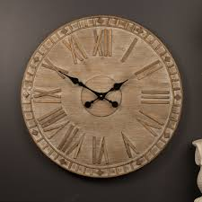 large wall clock 60cm wooden timber handmade industrial designer cool