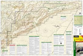 Big Bend Map Carlsbad Caverns National Park National Geographic Trails