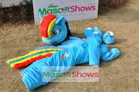 Rainbow Dash Halloween Costume Rainbow Dash Mascot Costume Pegasus Pony Costume U0027my