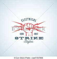 clipart vector of power fist abstract vector emblem symbol or