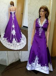 purple wedding dresses and white halter top wedding dress