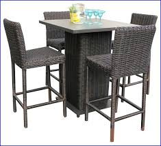 5 piece patio table and chairs rattan bar set rattan bar height table luxury rustico pub table set