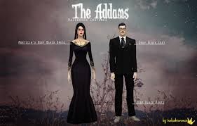 my sims 4 blog the addams family costumes for teen elder males