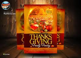 thanksgiving psd flyer template by flyertemplates on deviantart
