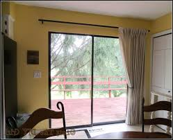 Patio Door Curtain Rod Patio Door Curtain Rods Without Center Bracket Curtain Rods
