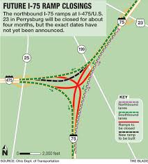 Perrysburg Ohio Map by Ramp Closures Coming For I 75 Work Zone In Perrysburg The Blade