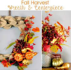 fall harvest wreath u0026 centerpiece the scrap shoppe