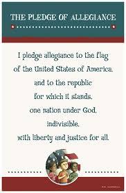 I Pledge Of Allegiance To The Flag Amazon Com Pledge Of Allegiance Poster Prints Posters U0026 Prints