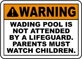 ansi z535 table 130 7 f no lifeguard at the wading pool sign f6959 by safetysign com