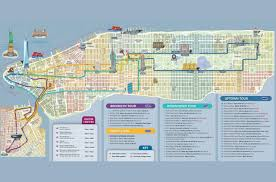 Street Map Of Nyc Hop On Hop Off Bustour New York U2013 1 Route City Sightseeing