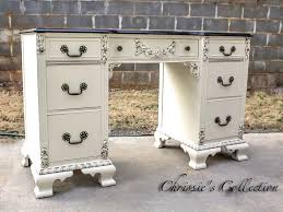 divine vintage desk in java and antique white general finishes