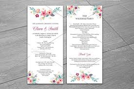 wedding program templates wedding program template invitation templates creative market