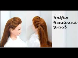 breadings for short hairstyles halfup braid for long or short hair hairstyles youtube