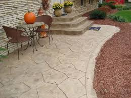Color Concrete Patio by Inviting Patio Was Colored With Davis Colors U0027 Pebble Concrete
