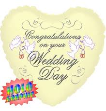 wedding day congratulations congratulations on your wedding day jumbo balloons by mail