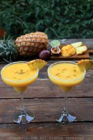 mango margarita tropical margaritas with pineapple passion fruit and mango