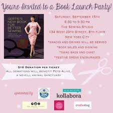 another example of a book launch party announcement or invitation