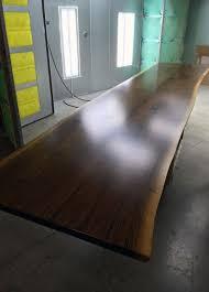 walnut slab table urban edge woodworks