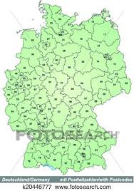 map of deutschland germany clip of map of germany with zip codes k20446777 search