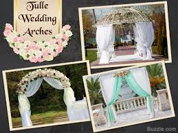 wedding arches decorated with tulle breathtakingly beautiful ways to decorate arches for a wedding