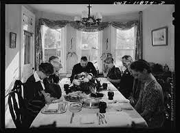 thanksgiving dinner prayer 1942 history by zim