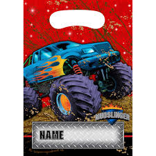 monster jam truck party supplies monster truck loot bags party supplies walmart com