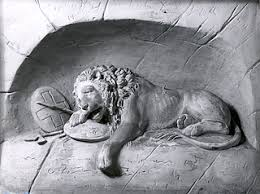 dying lion the lucerne lion the thorvaldsens museum archives