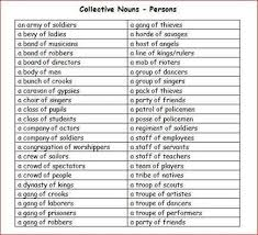 collective nouns persons vocabulary pinterest collective