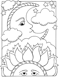 sun moon coloring pages chuckbutt